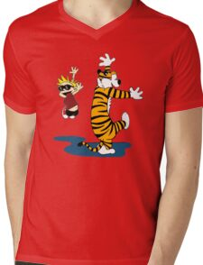 Calvin & Hobbes Dance Mens V-Neck T-Shirt