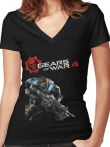Gears of War 4 Women's Fitted V-Neck T-Shirt
