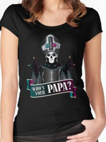 WHO'S YOUR PAPA? - papa 3 Women's Fitted Scoop T-Shirt