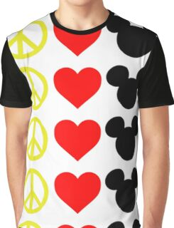 Peace, Love, Mickey Graphic T-Shirt
