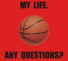 My Life Basketball Baby Tee