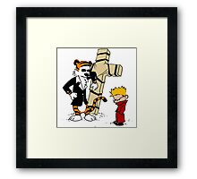 calvin and hobbes Funny Framed Print