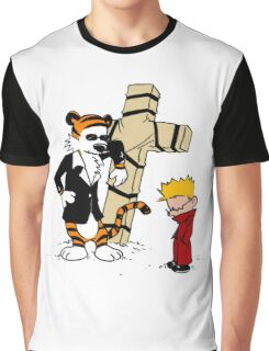 calvin and hobbes Funny Graphic T-Shirt