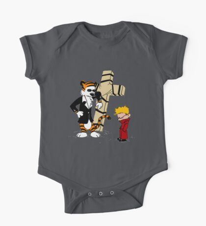 calvin and hobbes Funny One Piece - Short Sleeve