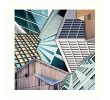 City Buildings Abstract Art Print