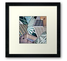 City Buildings Abstract Framed Print