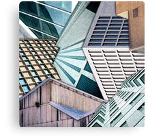 City Buildings Abstract Canvas Print