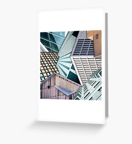 City Buildings Abstract Greeting Card