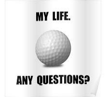 My Life Golf Poster