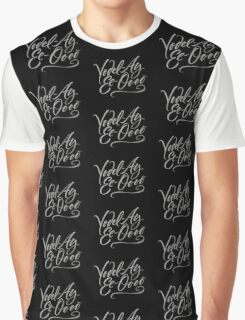 "Happy Yodeling Calligraphy  ""Yodel-Ay-Ee-Oooo""  Brush Lettering - Yodelling Graphic T-Shirt"