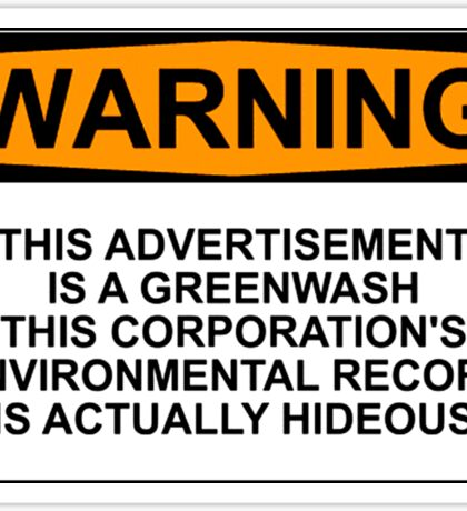 Greenwash Warning Sticker