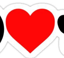 Peace, Love, Paws Sticker