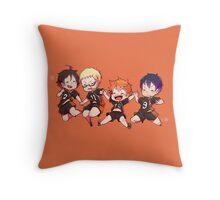 Haikyuu!! - Chibi Hinata and Friends Anime  Throw Pillow