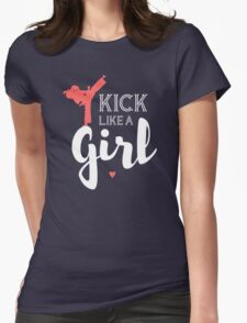 Kick Like A Girl Womens Fitted T-Shirt