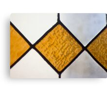Vinage Stained Glass Canvas Print