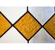 Vinage Stained Glass Photographic Print