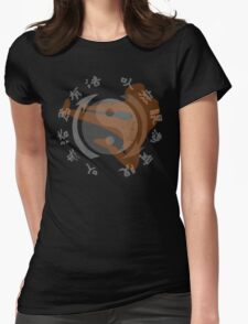 Jeet Kune Do Kung Fu Emblem & Silhouette  Womens Fitted T-Shirt