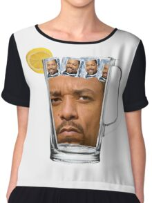Ice(d) T(ea) with some Ice Cube(s) Chiffon Top