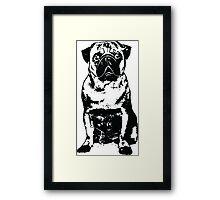 Black Dog Framed Print
