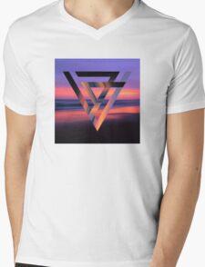 Neon Sky Mens V-Neck T-Shirt