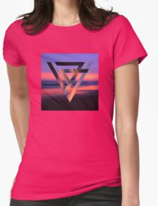 Neon Sky Womens Fitted T-Shirt