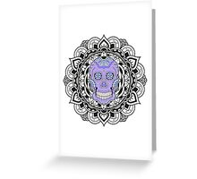 Mandala Skull Color Greeting Card