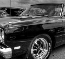 Black '69 Plymouth Road Runner 001 Sticker