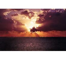 Sunset Blur Photographic Print