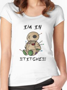 In stitches! Women's Fitted Scoop T-Shirt