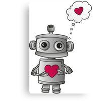 Valentine Robot Canvas Print