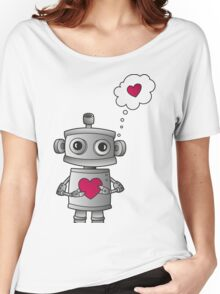 Valentine Robot Women's Relaxed Fit T-Shirt