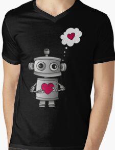 Valentine Robot Mens V-Neck T-Shirt