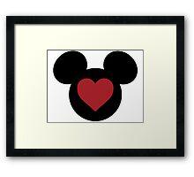 Love Mickey Framed Print