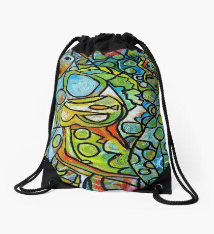 Green Goddesses Drawstring Bag