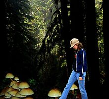 As she moved through the forest delicately, she never looked back. by Elaine Bawden