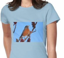 Robin Red Breast Womens Fitted T-Shirt