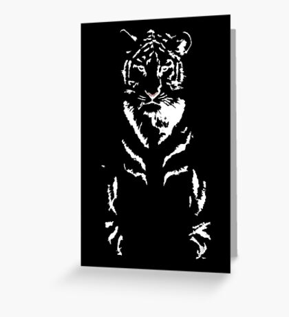 Tranquil Tiger Greeting Card