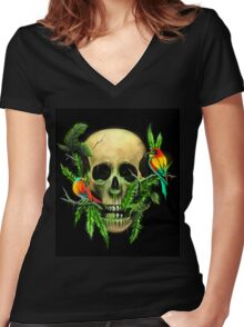 Life & Death Women's Fitted V-Neck T-Shirt
