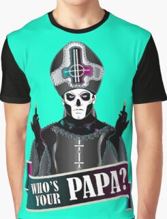 WHO'S YOUR PAPA? - papa 3 flippin' the bird-magenta Graphic T-Shirt