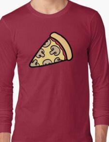 Mushroom Pizza Pattern Long Sleeve T-Shirt