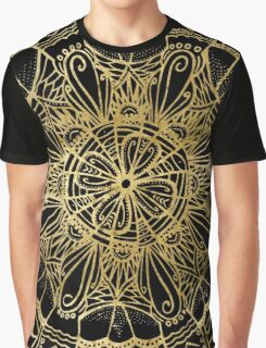 Zen Gold, Mandala 1 Graphic T-Shirt