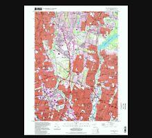 USGS TOPO Map New Jersey NJ Hackensack 254436 1997 24000 Unisex T-Shirt