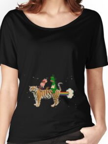 FARTIN' TIGER Women's Relaxed Fit T-Shirt