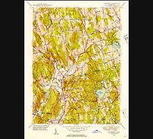 USGS TOPO Map Connecticut CT Woodbury 461086 1948 31680 Unisex T-Shirt
