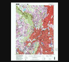 USGS TOPO Map New Jersey NJ Paterson 254696 1995 24000 Unisex T-Shirt