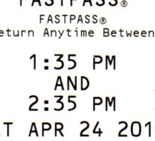 Space Mountain Fastpass Sticker