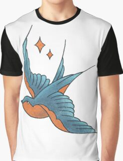 Swallow Tattoo (colour)  Graphic T-Shirt