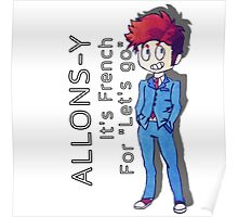 "Tenth Doctor - ""Allons-y!"" Poster"