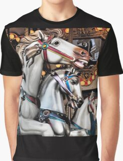 Vintage Horse Carousel Merry-Go-Round Ride  Graphic T-Shirt