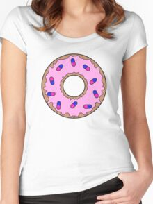 Donut and Pill Sprinkles Women's Fitted Scoop T-Shirt